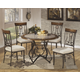 Hopstand Round Dining Table Set in Brown