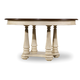 Hooker Furniture Leesburg 54in Round Dining Table w/1-18in Leaf in Antique White 5481-75201