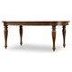 Hooker Furniture Leesburg Leg Table w/1-18in Leaf in Mahogany 5381-75200