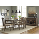Liberty Furniture Candlewood 7-Piece Rectangular Dining Set in Weather Gray