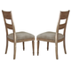 Liberty Furniture Harbor View Slat Back Side Chair in Sand 531-C1501 (Set of 2)