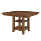 John Thomas Furniture Canyon Extension Pub Table with Storage in Pecan