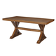 John Thomas Furniture Canyon Solid Top Dining Table in Pecan