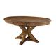 John Thomas Furniture Canyon Extension Pedestal Dining Table in Pecan