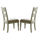 Liberty Furniture Harbor View III Slat Back Side Chair in Dove Gray 731-C1501 (Set of 2)