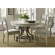 Liberty Furniture Harbor View III 5-Piece Round Dining Set in Dove Gray