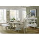 Liberty Furniture Harbor View III 6-Piece Trestle Dining Set in Dove Gray
