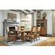 John Thomas Furniture Canyon 7-Piece Extension Dining Room Set in Pecan
