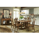John Thomas Furniture Canyon 7-Piece Solid Top Dining Room Set in Pecan