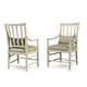 A.R.T Furniture Echo Park Slat-Back Arm Chair (Set of 2) in Antique White 212203-2617