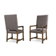 A.R.T Furniture Echo Park Uph. Back Arm Chair (Set of 2) in Mocha 212205-2016