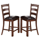 New Classic Furniture Lanesboro Counter Chair (Set of 2) in Distressed