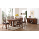 New Classic Furniture Lanesboro 7-Piece Dining Table Set in Distressed