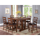 New Classic Furniture Lanesboro 7-Piece Counter Table Set in Distressed