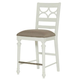 American Drew Lynn Haven Fret Work Counter Stool in Dover White (Set of 2) 416-691