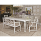 American Drew Lynn Haven 7-Piece Rectangular Leg Dining Set in Dover White