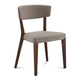 Domitalia Diana Chair in Sand and Chocolate DIANA.S.0K0.CHS.8IV (Set of 2)