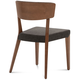 Domitalia Diana Chair in Brown and Walnut (Set of 2)