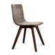 Domitalia Flexa-LX Chair in Sand and Chocolate FLEXA.S.0KS.CHS.8IV (Set of 2)
