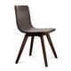 Domitalia Flexa-LX Chair in Brown and Chocolate FLEXA.S.0KS.CHS.8IW (Set of 2)