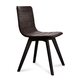 Domitalia Flexa-LX Chair in Brown and Anthracite FLEXA.S.0KS.LAS.8IW (Set of 2)