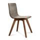 Domitalia Flexa-LX Chair in Sand and Walnut FLEXA.S.0KS.NCA.8IV (Set of 2)
