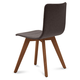 Domitalia Flexa-LX Chair in Brown and Walnut FLEXA.S.0KS.NCA.8IW (Set of 2)