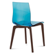 Domitalia Gel Chair in Blue and Chocolate GEL.S.LSF.CHS.SAZ (Set of 2)