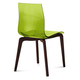 Domitalia Gel Chair in Green and Chocolate GEL.S.LSF.CHS.SVE (Set of 2)