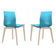 Domitalia Gel Chair in Blue and Ash White GEL.S.LSF.FRS.SAZ (Set of 2)