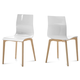 Domitalia Gel Chair in White and Ash White GEL.S.LSF.FRS.SBI (Set of 2)