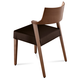 Domitalia Lirica Chair in Black and Walnut LIRIC.S.0K0.NC.NCNE (Set of 2)