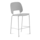 Domitalia Traffic-Sga Stacking Chair in Light Grey and White TRAFF.R.A0F.BI.PGC