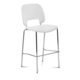 Domitalia Traffic-Sga Stacking Chair in White and Chrome TRAFF.R.A0F.CR.PBI