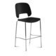 Domitalia Traffic-Sga Stacking Chair in Black and Chrome TRAFF.R.A0F.CR.PNE