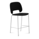 Domitalia Traffic-Sgb Stacking Chair in Black and White TRAFF.R.B0F.BI.7JR