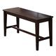 ECI Furniture Acacia High Backless Bench in Walnut 3073-00-B36