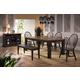 ECI Furniture Acacia 6-Piece Rectangular Leg Dining Set in Walnut