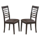 ECI Furniture Lexington Side Chair in Jacobean 3095-00-S (Set of 2)
