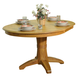 ECI Furniture Hudson Round Pedestal Table in Light Oak
