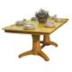 ECI Furniture Hudson Rectangular Double Pedestal Table in Light Oak
