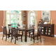 ECI Furniture Gettysburg 7-Piece Rectangular Leg Dining Set in Dark Distressed