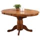 ECI Furniture Missouri Single Pedestal Table in Rustic Oak