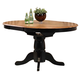 ECI Furniture Missouri Single Pedestal with Adjustable Filler Table in Rustic Oak and Black