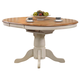 ECI Furniture Missouri Single Pedestal Table in Rustic Oak and Antique White