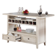 ECI Furniture Island in Antique White 2222-20-I-TB