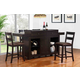 ECI Furniture Hibatchi 5-Piece Dining Bar Set in Jacobean