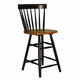 ECI Furniture Caprail Counter Stool in Black 1093-10-BS (Set of 2)
