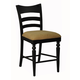 ECI Furniture Counter Stool with Upholstered Seat in Black 1866-10-BS (Set of 2)