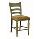 ECI Furniture Counter Stool with Upholstered Seat in Green 1866-12-BS (Set of 2)